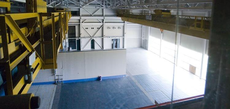 Inside the abandoned SSC facility.