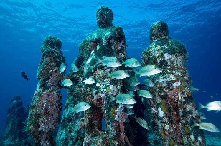 Underwater museum, Isla Mujeres.