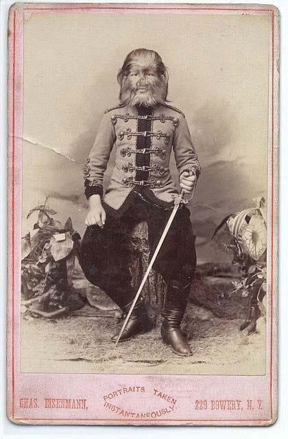 Fedor Jeftichew in his Russian cavalry uniform