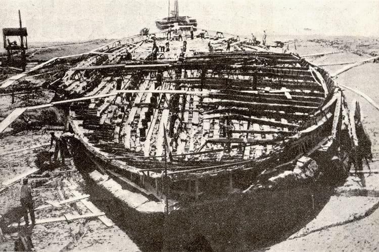 The larger Nemi ship.