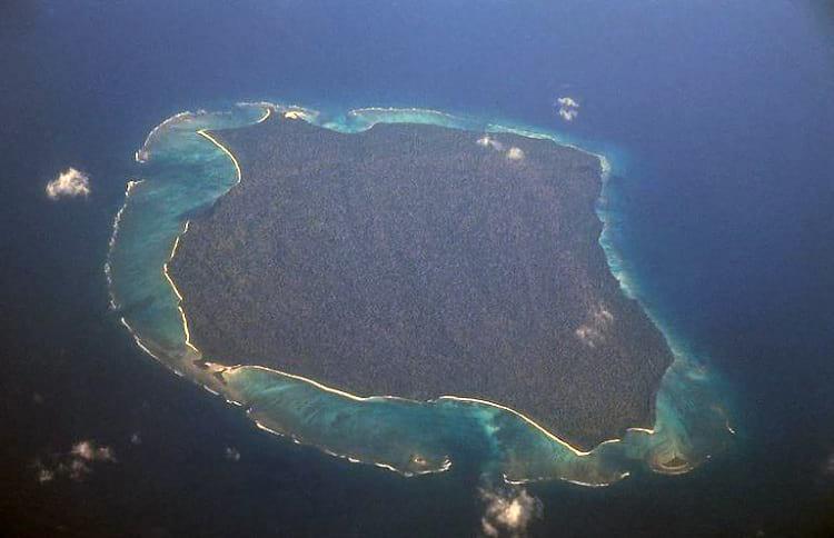 Aerial photo of North Sentinel Island