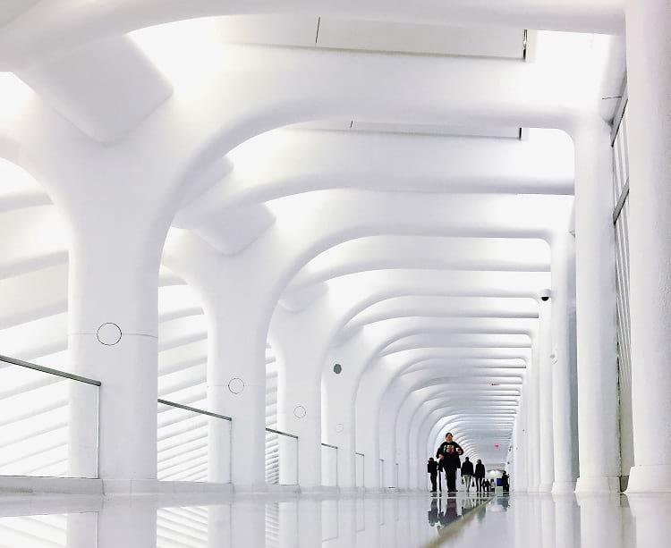 World Trade Center Transportation Hub: Pedestrian walkway