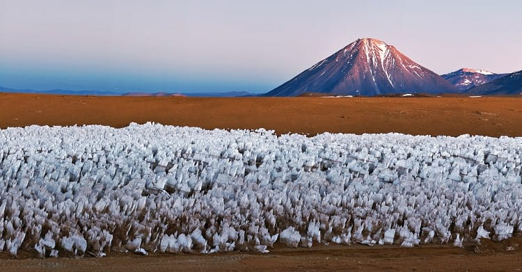 Penitentes in the Chajnantor Plateau
