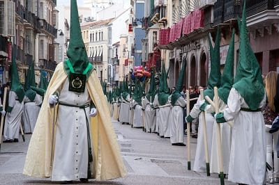 Procession of Penance in Malaga, Spain.