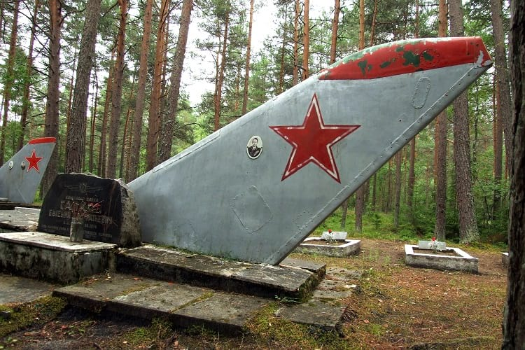Ämari Pilots' Cemetery upclose.