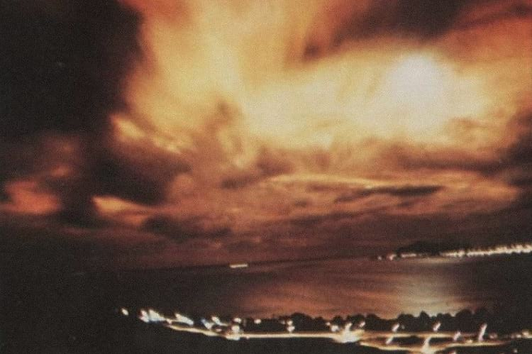 The sky after the Starfish Prime high-altitude nuclear test