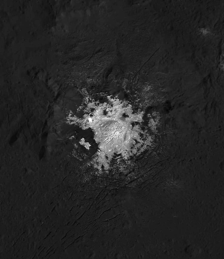 Occator Crater on Ceres.