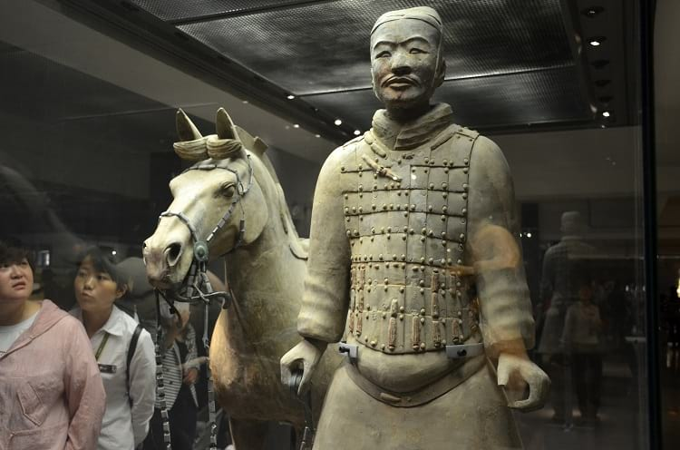 A terracotta solider with his horse