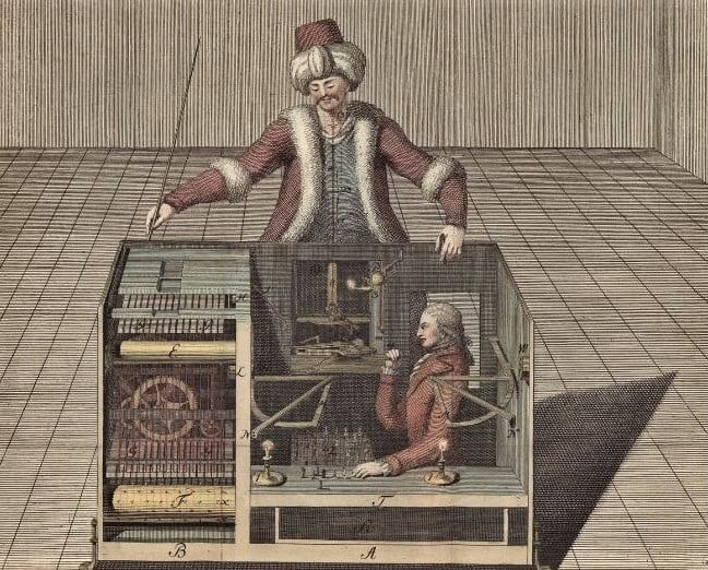 Illustration of the working of The Turk.