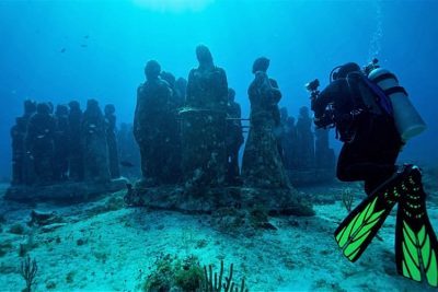 Underwater museum, Isla Mujeres