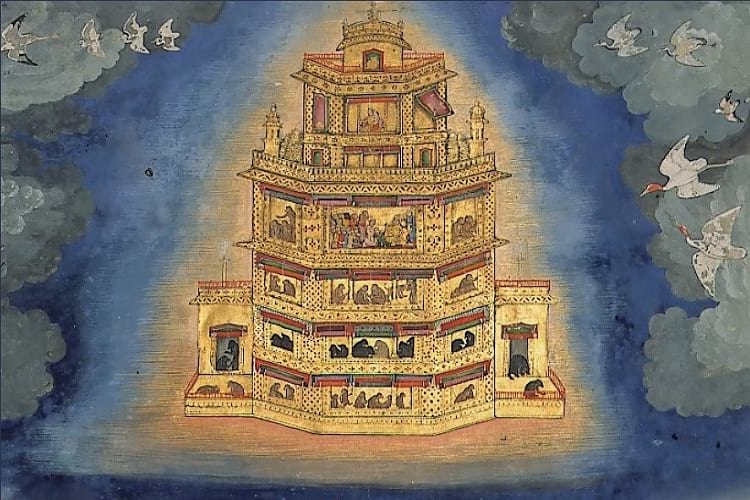 Vaimanika Shastra: Painting of a celestial chariot.