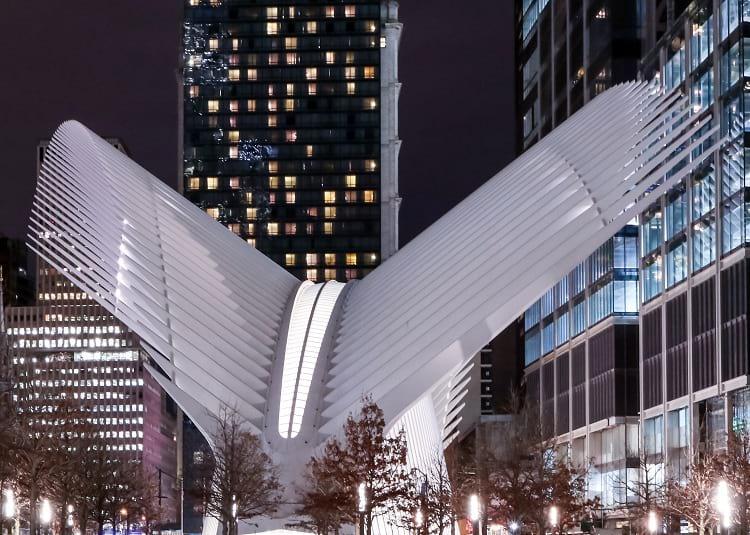 World Trade Center Transportation Hub exterior.