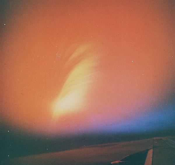 Starfish Prime: Photo of aurora taken from an aircraft after the test.