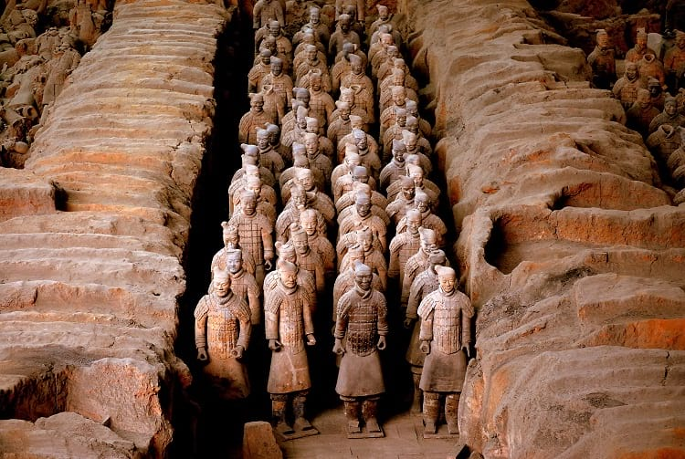 Terracotta warriors or terracotta army