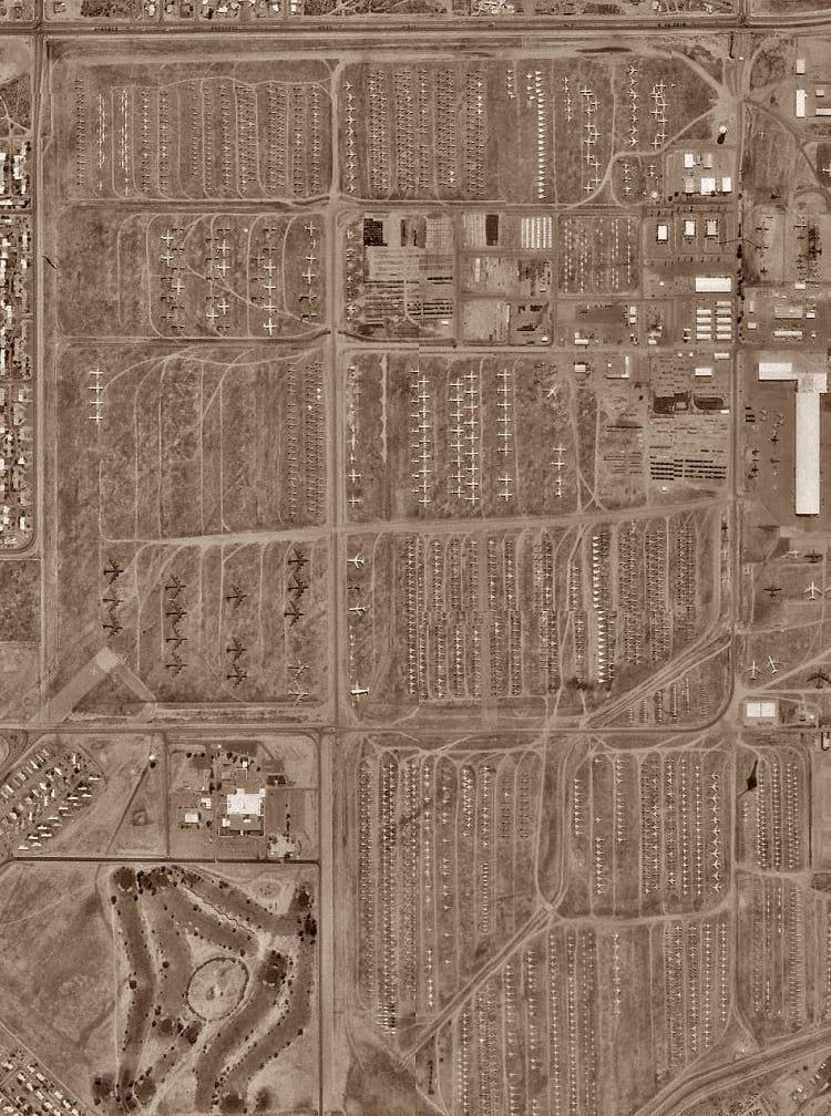AMARG: Satellite photo of The Boneyard.