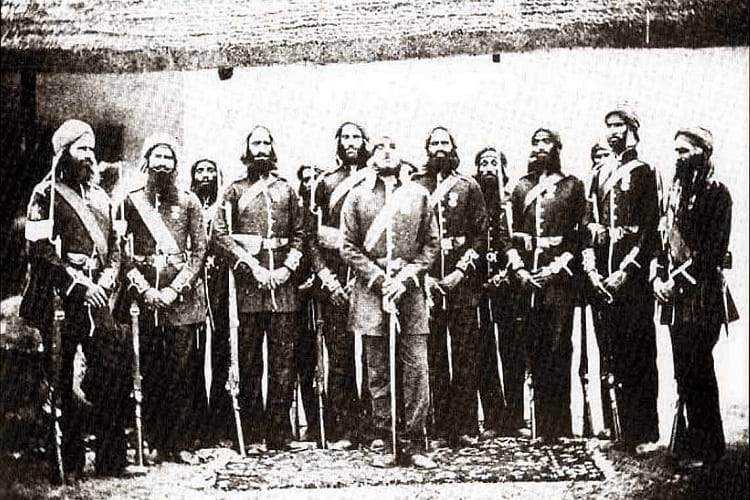 Members of the 11th Sikh Regiment from the Battle of Saragarhi.