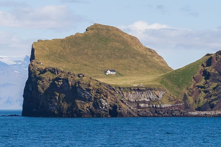 The lonely house at Ellidaey Island