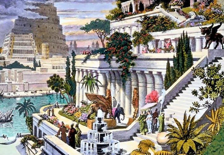 Hanging Gardens of Babylon, one of the Seven Wonders of the Ancient World.