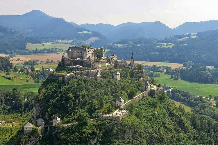 Aerial photo of Hochosterwitz Castle