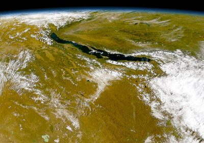 Lake Baikal from space.