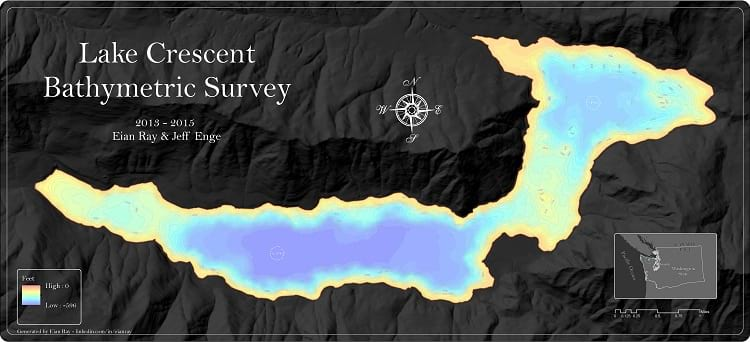 Outline of Lake Crescent