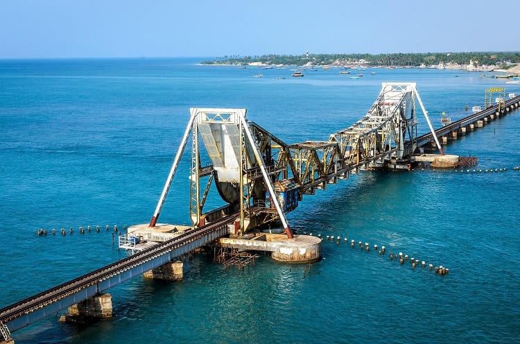 Drawbridge on Pamban Bridge.