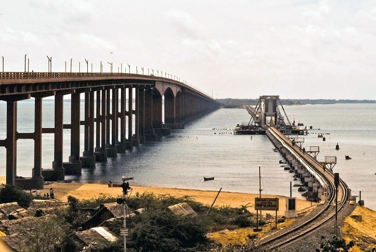 Pamban bridge and Annai Indira Gandhi Road