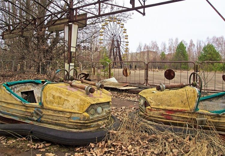 An abandoned amusement park in Pripyat