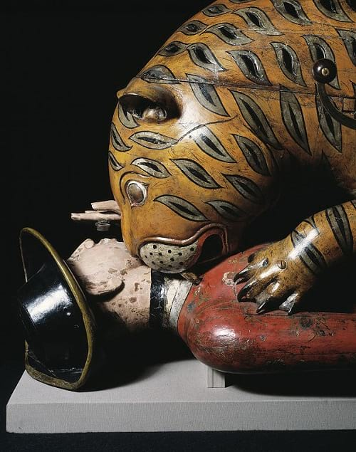 Tipu's Tiger: The head of the automaton