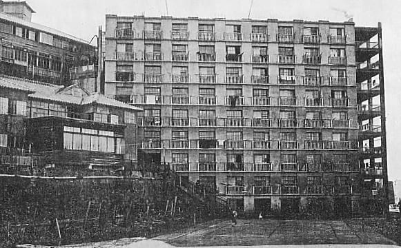 A building in Hashima Island, 1930