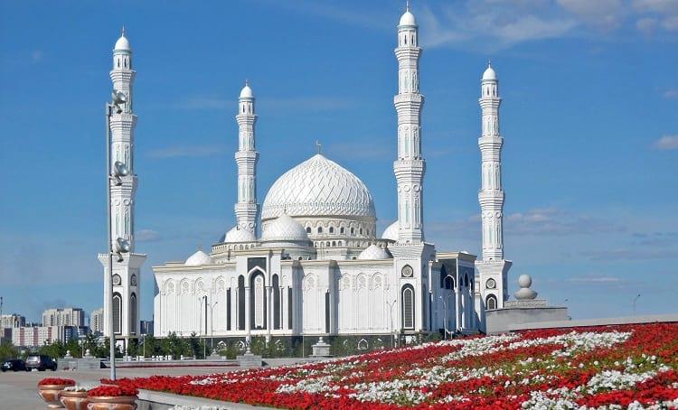 Hazrat Sultan Mosque in Astana.
