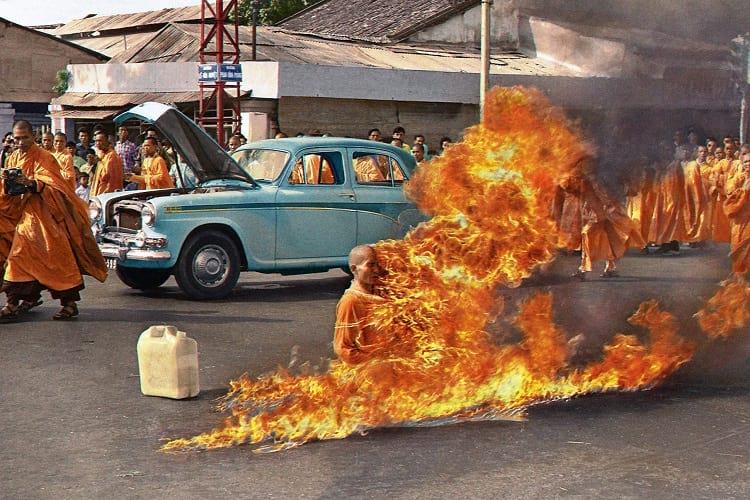 The burning monk, Thích Quảng Đức
