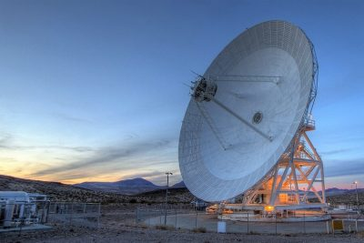 An antenna at Goldstone Deep Space Communications Complex