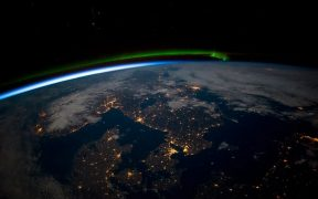 Photo of earth from International Space Station.