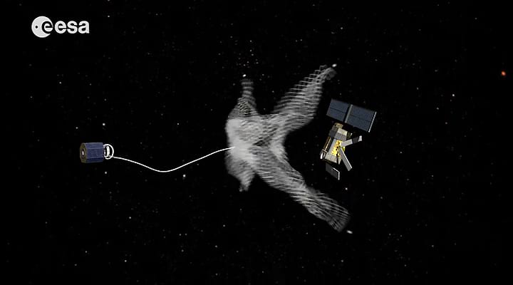 Artistic impression of RemoveDEBRIS in action