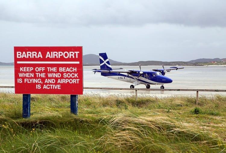 Sign at Barra Airport