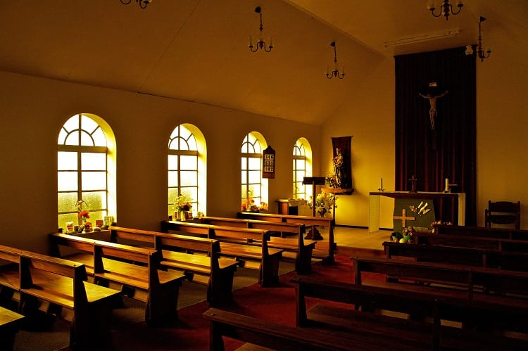 St Joseph's Catholic church Tristan da Cunha.