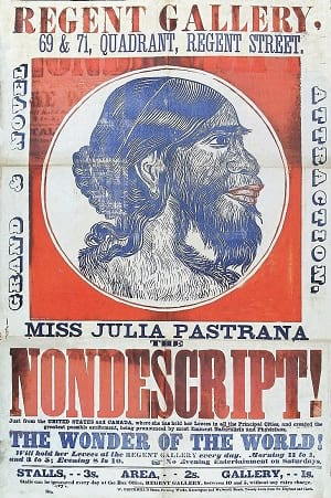 advertising about Julia Pastrana