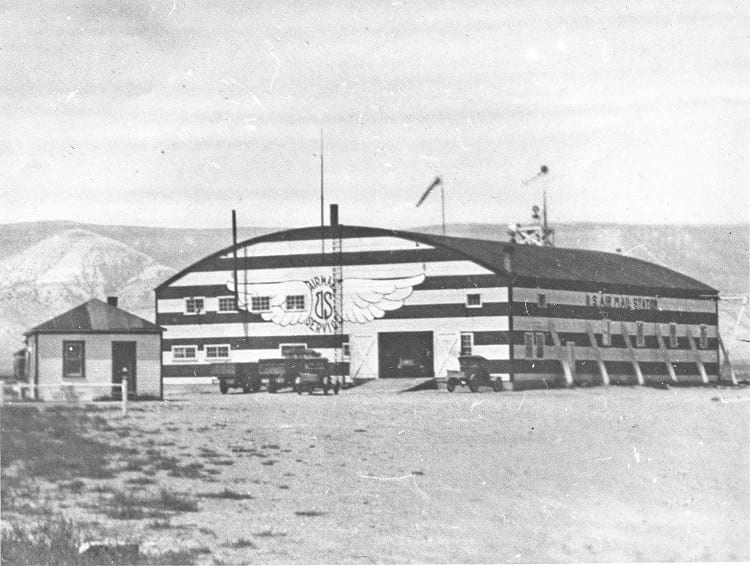 Airmail hanger of US Air Mail Station