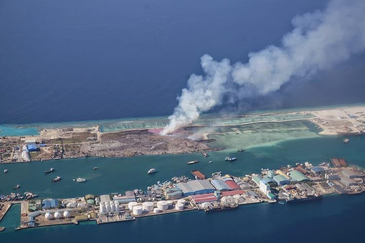 Aerial photo of Thilafushi.