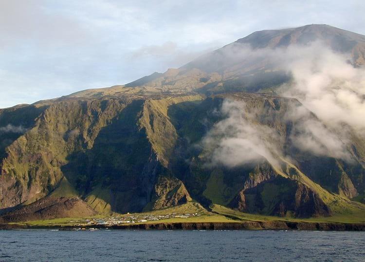 Settlements on Tristan da Cunha.