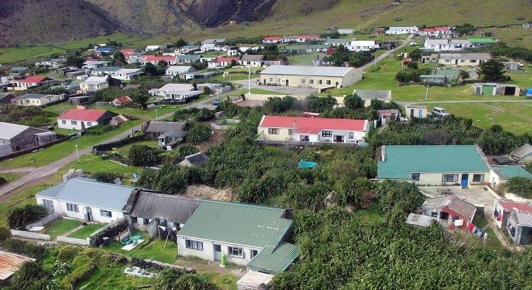 Residences at Tristan da Cunha.