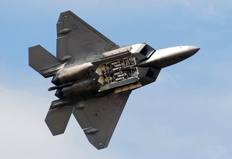 Lockheed Martin F-22 Raptor underside.
