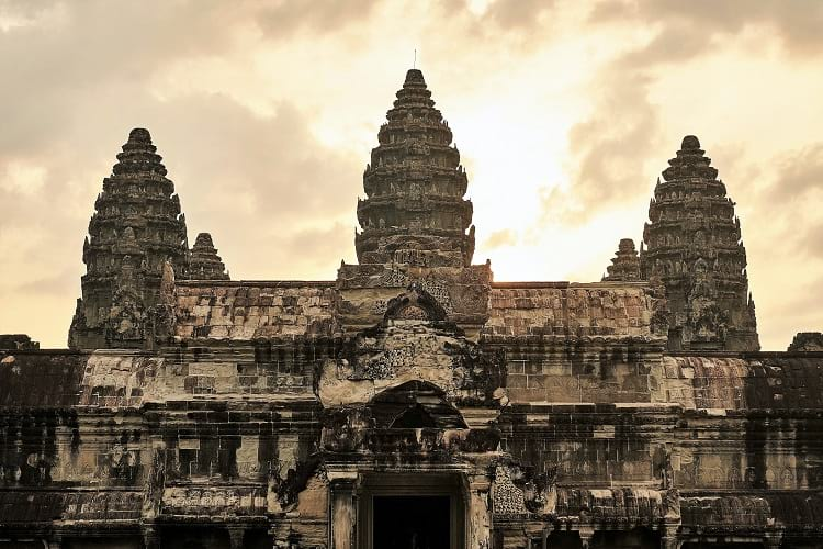 Architecture of the Angkor Wat.