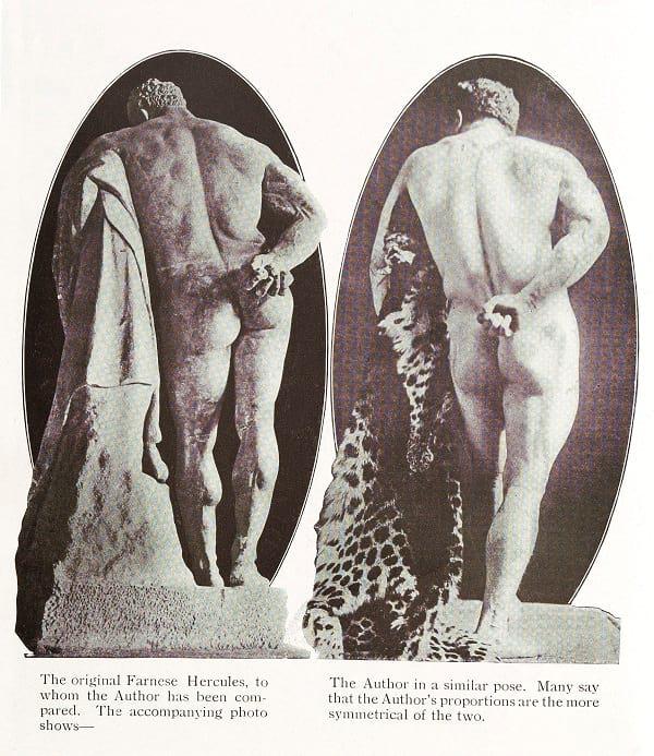 Eugen Sandow being compared to Hercules.