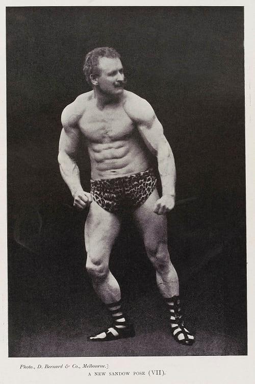 Eugen Sandow posing.