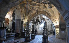 Inside Sedlec Ossuary.