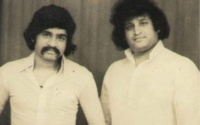 Khalid Pehelwan (left) with Dawood Ibrahim