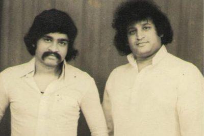 Khalid Pehelwan (left) with Dawood Ibrahim
