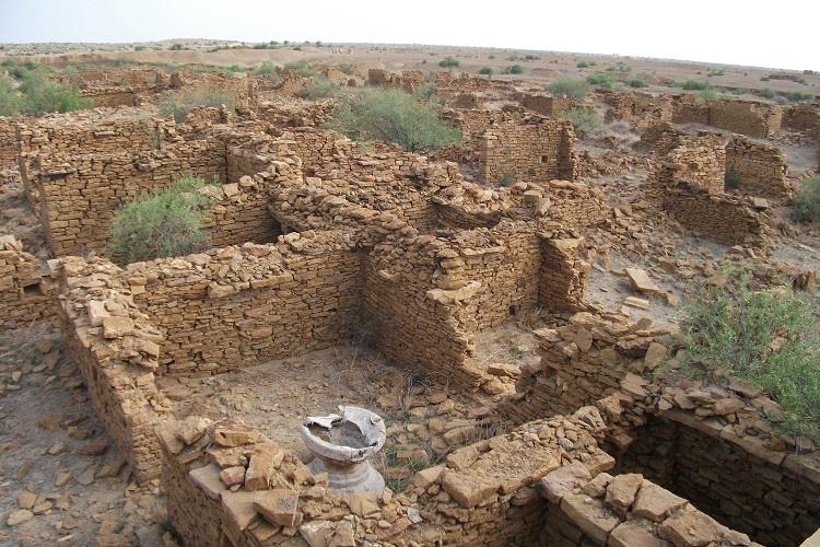 Remains of houses in Kuldhara village.